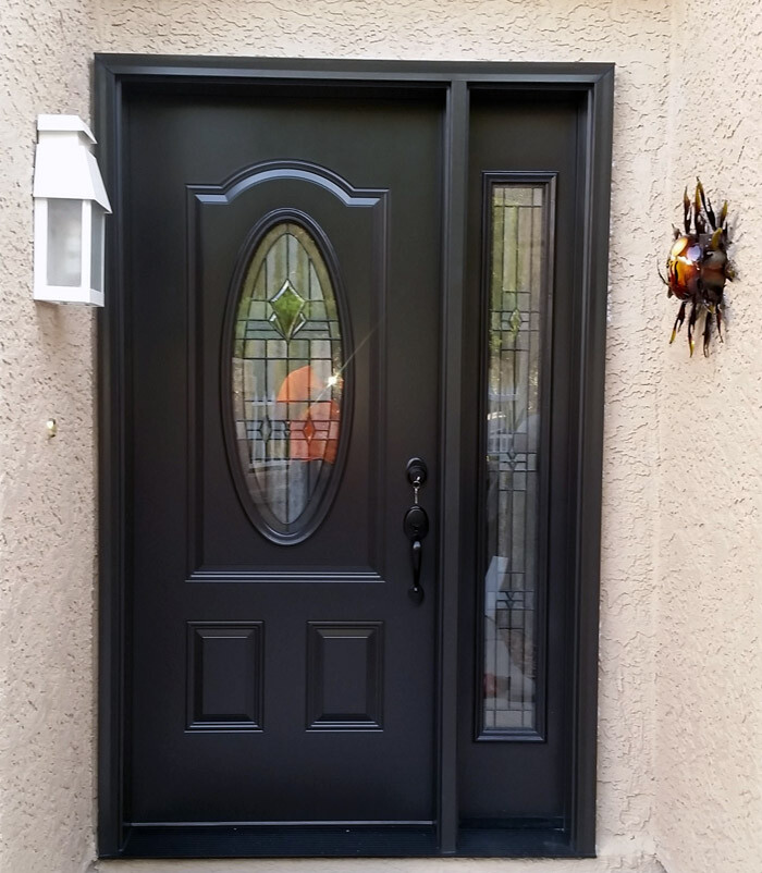Entry Door - Brown Chocolate with glass