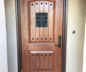 Hard Wood Entry Door