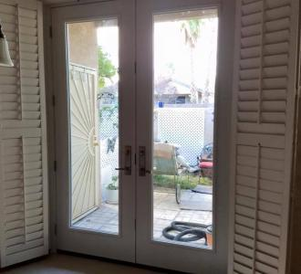 Two Door white Patio Door