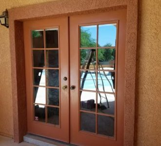 Brown Patio Door
