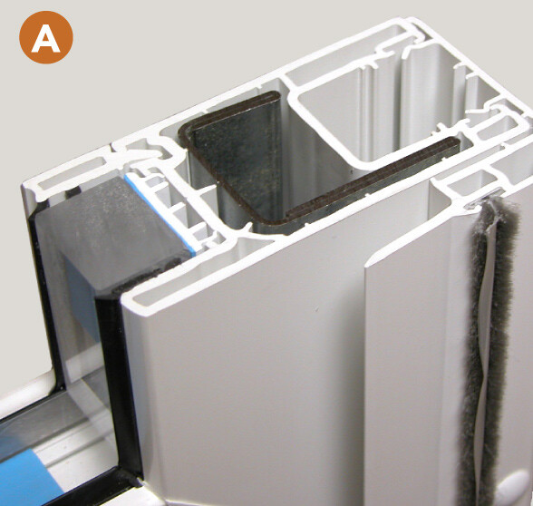 Galvanized steel reinforced panels ensure rigidity and stable operation.