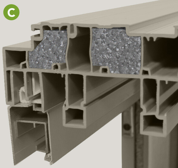 Strong, multi-chamber profiles with Neopor® insulation