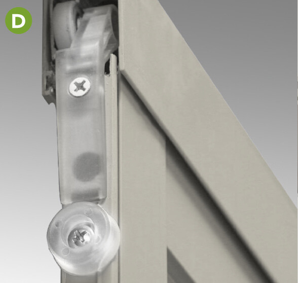 Suspended by ball bearing rollers this top-hung heavy-duty