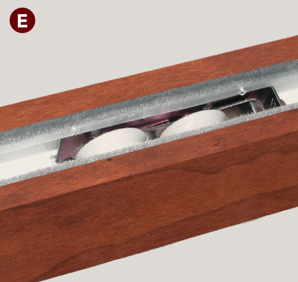 Patented sliding system features four adjustable 1