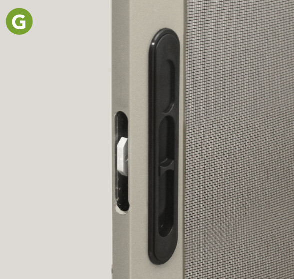 Spring-loaded latch system automatically engages upon closing.